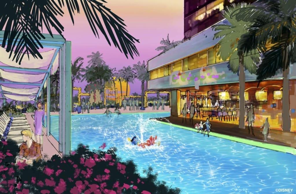 disneyland luxury hotel concept art
