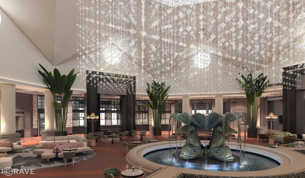 Plans for $12 Million Swan and Dolphin Resort Lobby Renovation