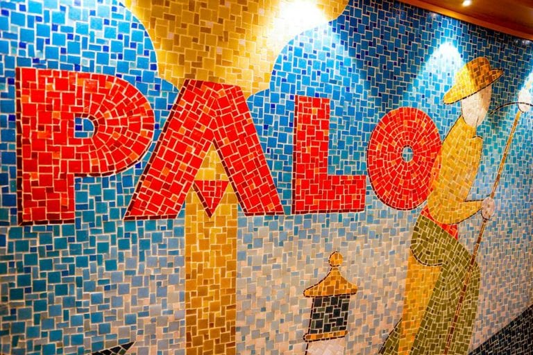 Palo Dinner Review Palo Mosaic Sign