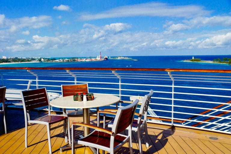 DisnDisney Cruise Cabanas Breakfast Review Outside Table View