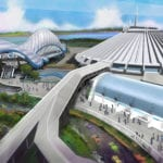 Tron Roller Coaster Magic Kingdom Concept Art
