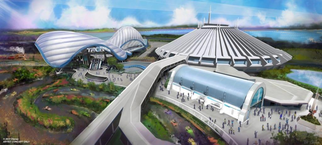 TRON Coaster Track installation Magic Kingdom