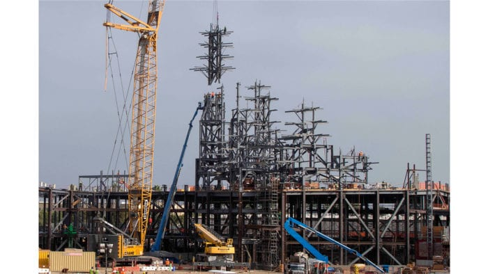 Disneyland's Star Wars Galaxy's Edge Construction Reaches New Heights