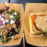 Farm Fresh Review 2017 Epcot Food and Wine Festival Roasted Beet Salad and Crispy Chicken