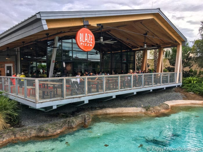 Blaze Pizza bag outsideHurricane Irma in Walt Disney World