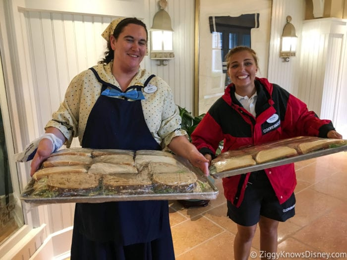 Hurricane Irma in Walt Disney World beach club cast members with sandwiches
