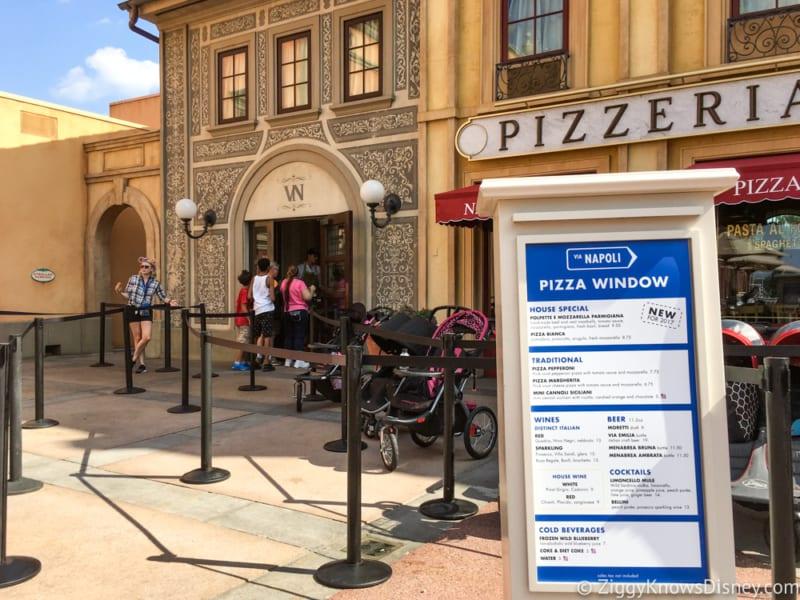 REVIEW: Via Napoli Pizza Window in Epcot