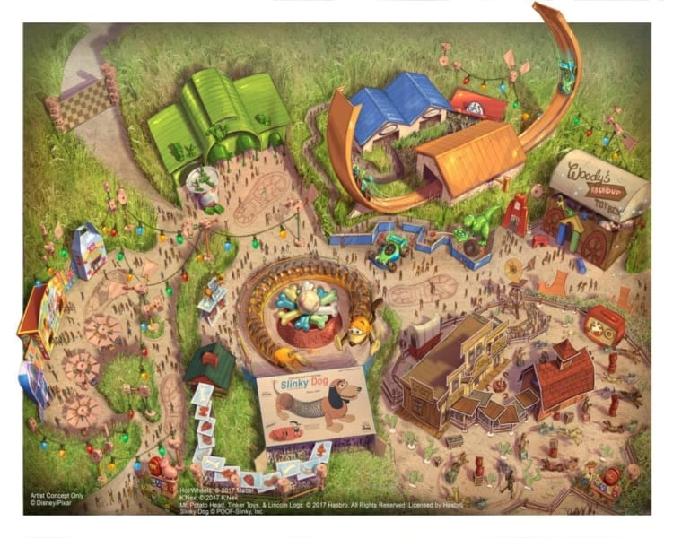 New Toy Story Land Concept Art Revealed for Shanghai Disneyland