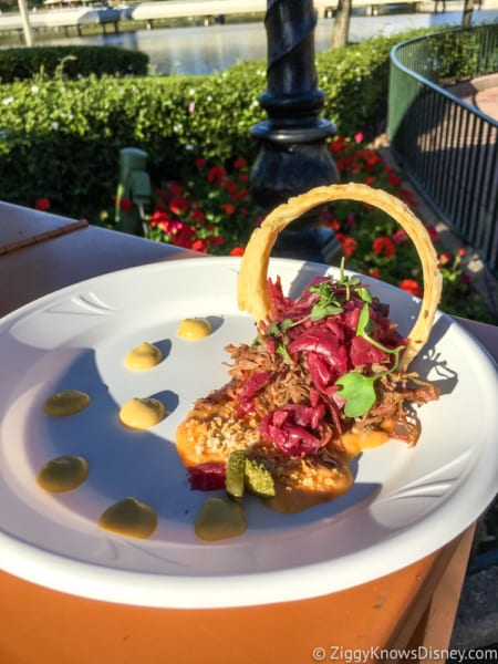 2019 Epcot International Festival of the Arts Menus deconstructed BLT