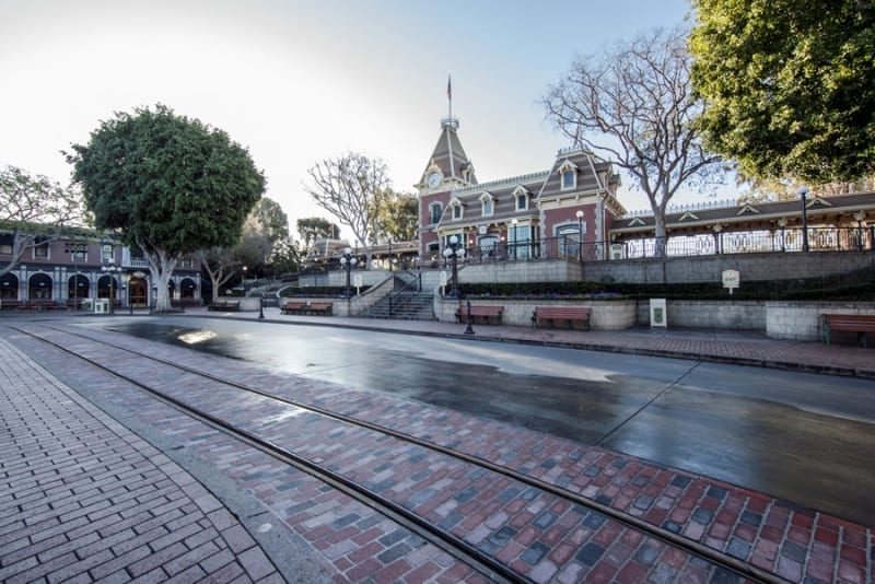 project stardust Disneyland sleeping beauty castle brickwork on Main Street