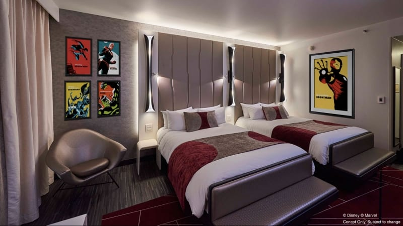 The Art of Marvel Hotel New Details Disneyland Paris from D23 Expo Japan