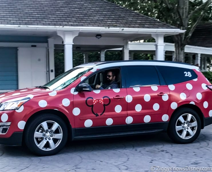 Disney's Minnie Van Review Walt Disney World our driver