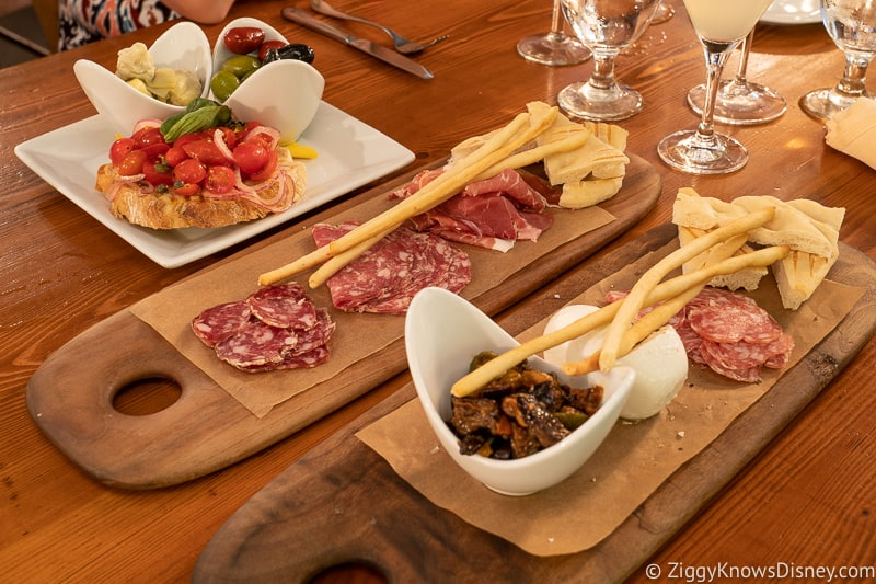 Antipast trays from Tutto Gusto in Epcot