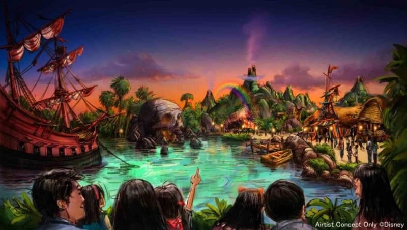 Peter Pan themed area in Fantasy Springs Tokyo DisneySea concept art