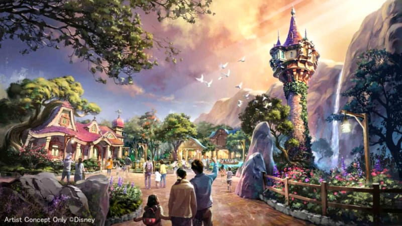 Tangled themed area in Fantasy Springs Tokyo DisneySea concept art