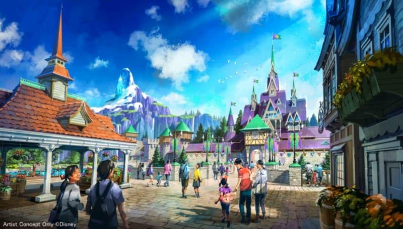 Frozen themed area in Fantasy Springs Tokyo DisneySea concept art