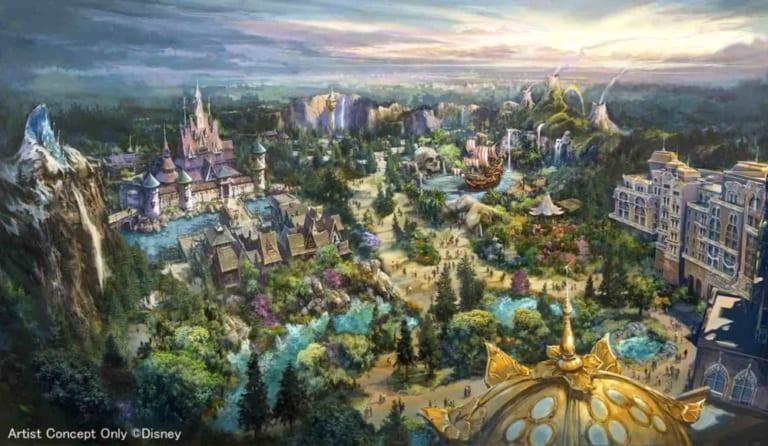 Fantasy Springs expansion in Tokyo DisneySea concept art