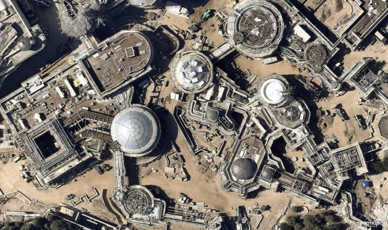 PHOTOS: Latest Star Wars Galaxy's Edge Disneyland Aerial Construction Photos