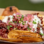 Flavors from Fire Review 2018 Epcot Food and Wine Festival smoked corned beef