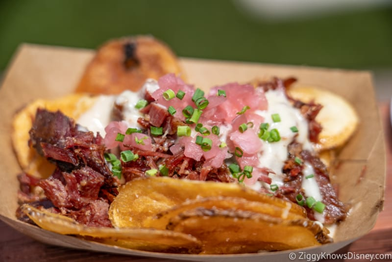Flavors from Fire Review 2020 Epcot Food and Wine Festival smoked corned beef