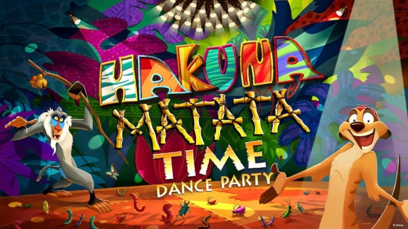 Hakuna Matata Time Dance Party Coming Disney's Animal Kingdom