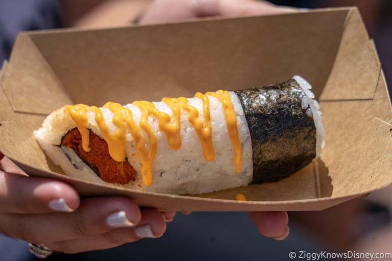Japan Review 2018 Epcot Food and Wine Festival spicy roll