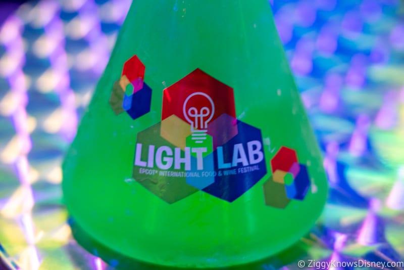 Light Lab Review 2018 Epcot Food and Wine Festival phosphorescent phreeze