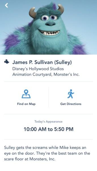Monsters Inc character meet Hollywood Studios  mde