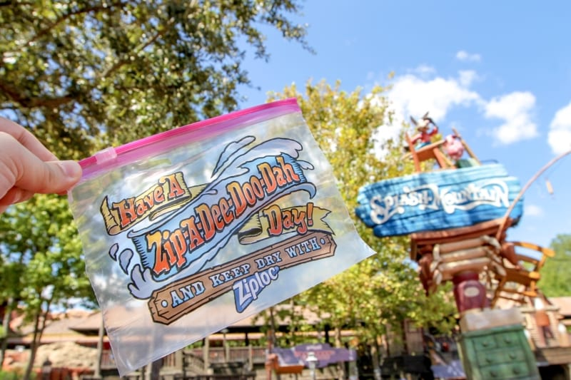 Splash Mountain Ziploc Bag Distribution Began Today in Disney's Magic Kingdom