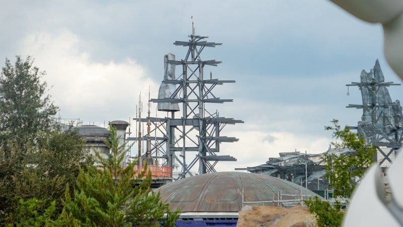 Themed Roofs and Painted Spires Star Wars Galaxy's Edge spires