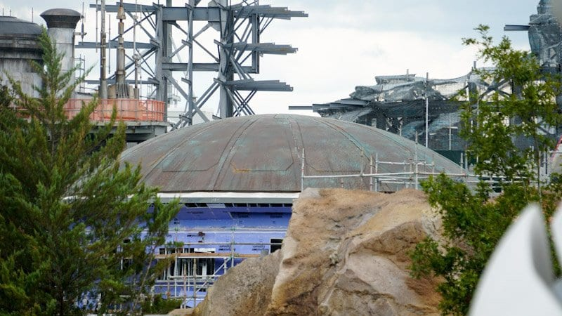 Themed Roofs and Painted Spires Star Wars Galaxy's Edge roof