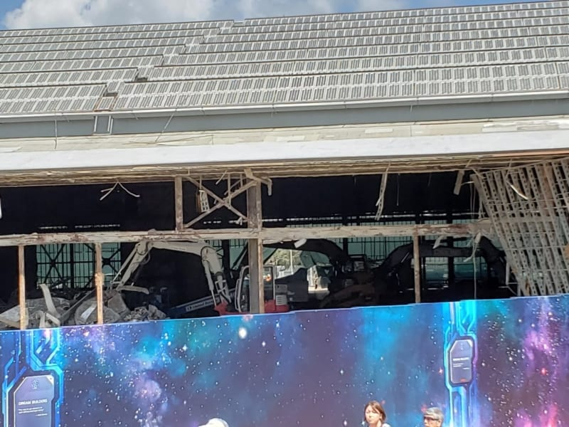 Universe of Energy Building Demolition Begins for Guardians of the Galaxy Coaster