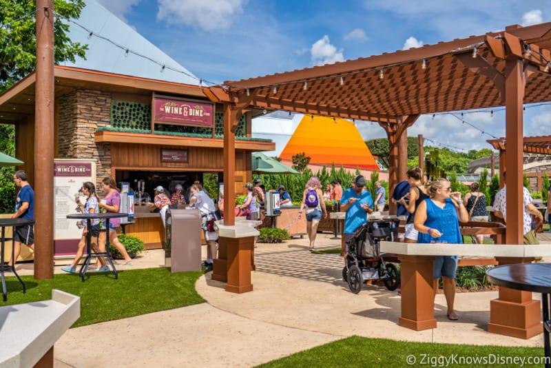 Wine and Dine Studio Review 2018 Epcot Food and Wine Festival marketplace