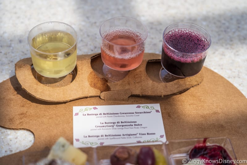 Wine and Dine Studio Review 2018 Epcot Food and Wine Festival wine flight