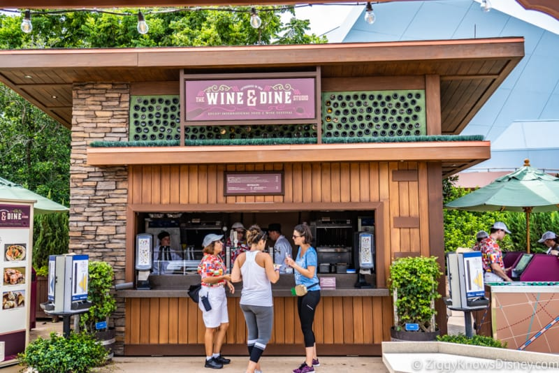 Wine and Dine Studio Review 2018 Epcot Food and Wine Festival booth
