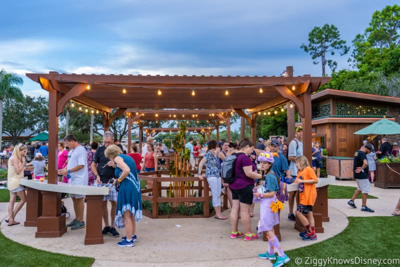 Wine and Dine Studio Review 2019 Epcot Food and Wine Festival tables