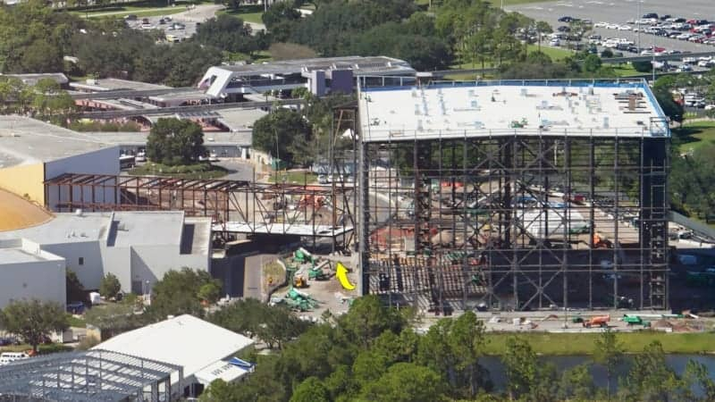 Guardians of the Galaxy Construction Update October 2018 First Wall Panels Installed