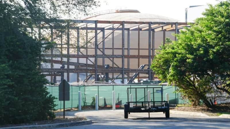 Guardians of the Galaxy Rollercoaster Construction Update October 2018, Solar Panels Down