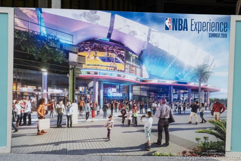 Disney Springs Construction Update October 2018 Photos NBA Experience