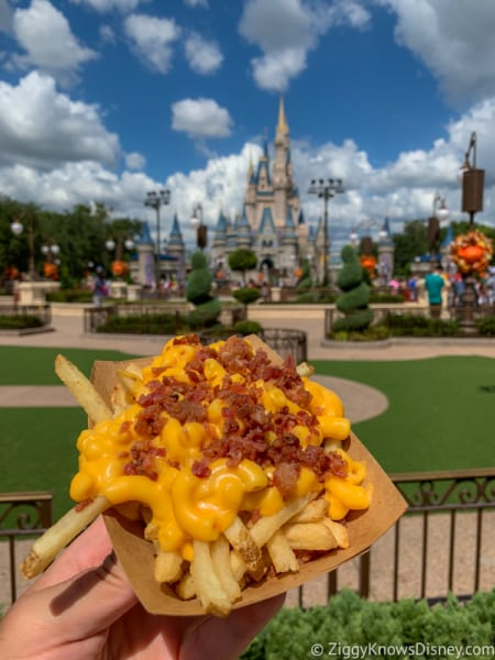 Review Bacon Mac and Cheese Fries Casey's Corner Magic Kingdom