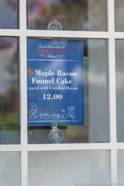 REVIEW Maple Bacon Funnel Cake Epcot menu