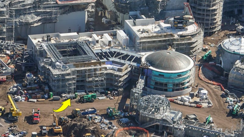Star Wars Galaxy's Edge Construction Update October 2018 building facade