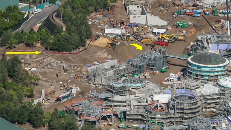 Star Wars Galaxy's Edge Construction Update October 2018 view of building