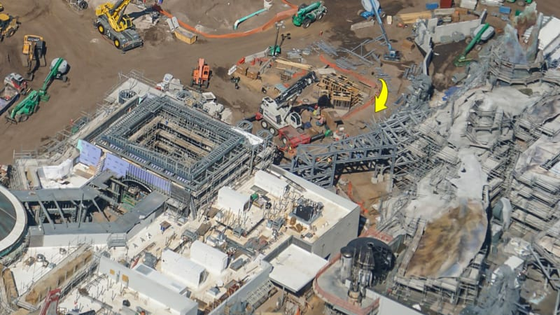 Star Wars Galaxy's Edge Construction Update October 2018 arch frame