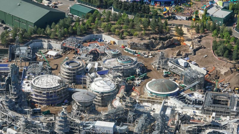 Star Wars Galaxy's Edge Construction Update October 2018 entrance toy story land
