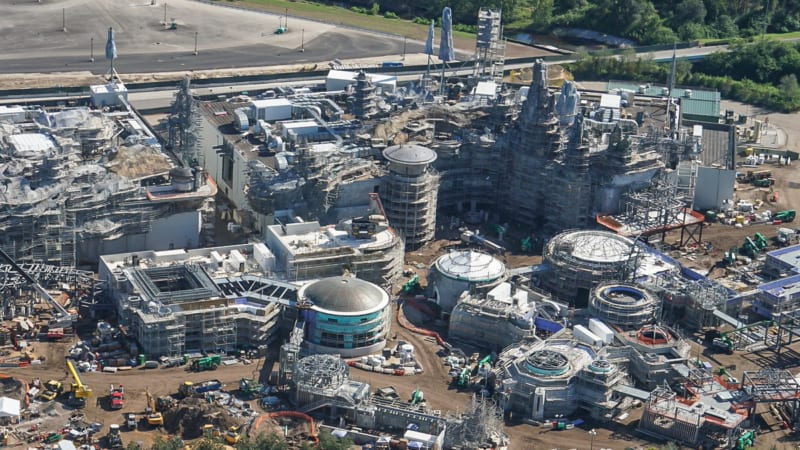 Star Wars Galaxy's Edge Construction Update October 2018 millennium falcon