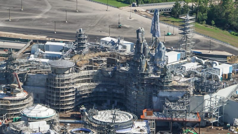 Star Wars Galaxy's Edge Construction Update October 2018 millennium falcon front