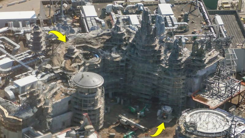 Star Wars Galaxy's Edge Construction Update October 2018 millennium falcon turret after
