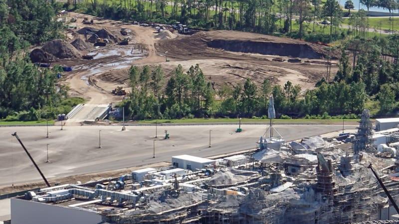 Star Wars Galaxy's Edge Construction Update October 2018 Star Wars hotel land