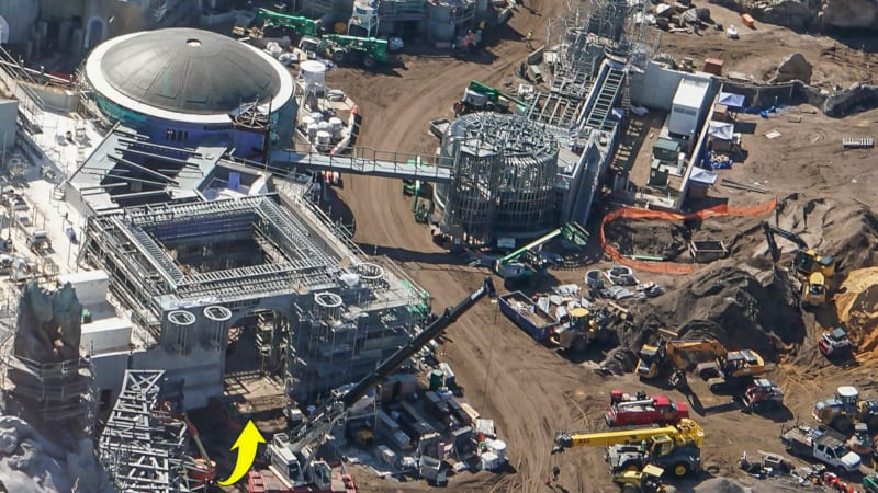 Star Wars Galaxy's Edge Construction Update October 2018 bridge